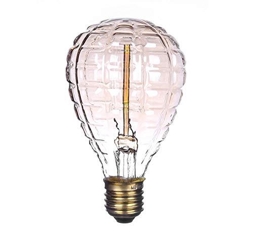 Edison Bombilla Tungsteno Filamento Granada Cable Recto 40W Edison Retro Tungsteno Bombilla Decoración Creativa Bombilla Luz