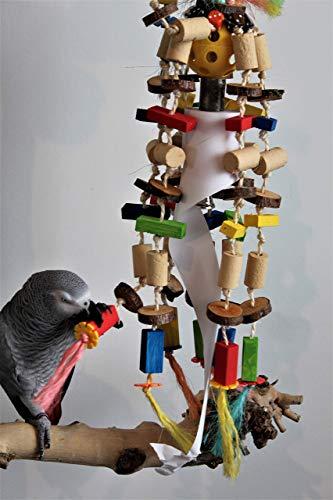 Papageienspielzeug KOKO Knabberspaß & Funny Shredder 100 TEILE 60cm GLÖCKCHEN