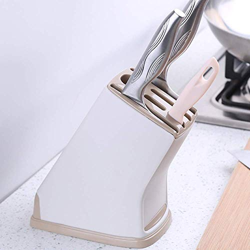 Stainless Steel Knife Set with Block - 3 Kitchen Knives Set Chef Knife Set with Knife Sharpener, 3 Steak Knives, Bonus Peeler Scissors Cheese Pizza Knife & Silicone Stand - Best Cutlery Set Gift