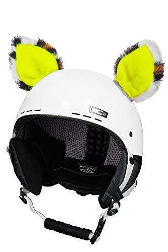 Crazy Ears helm-accessoires oren kat tijger lux kikker, ski-oren geschikt voor skihelm, motorhelm, fietshelm en nog veel meer