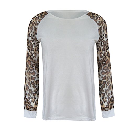 Spring Color Women's Leopard Print Long Sleeve Crew Ne Fit Casual Sweatshirtr Tops Shirts Loose Tunic Blouse