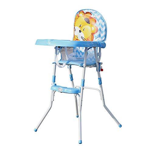 Trona plegable para bebé, con bandeja, altura ajustable, para niños de 6...