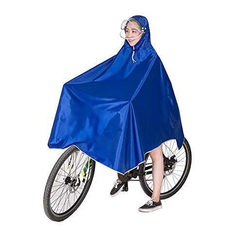 Vientiane Impermeabile Poncho, Portatile Traspirante Mantello, per Camminata in Montagna, Campeggio, Ciclismo, Pesca (Blu)
