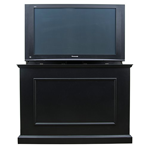 """Touchstone 72011 - Elevate TV Lift Cabinet - TVs Up to 50 Inch Diagonal (45"""" Wide TV) - Black - 50 in Wide - Quiet & Quick Whisper Lift II TV Lift – Wired & Wireless RF Remote"""