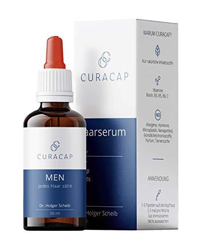 CuraCap Haarserum bei Haarausfall von Dr. Holger Scheib   Haarwachstum & Haarpflege   Haar Vitamin Haarwasser zur Kopfhautpflege   Als Haarvitamine, Hair Vitamin & Vitamins, Haarverdicker   Men