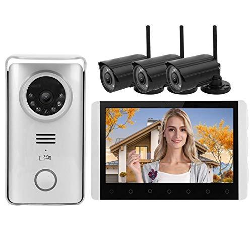 Timbre de Video Sistema de Entrada de Seguridad con Timbre de Pantalla LCD TFT de 7 Pulgadas para apartamento para Seguridad en el hogar(European regulations)