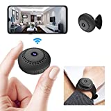 Mini WiFi Spy Camera 1080P, Wireless Hidden Spy Cam Audio and Video Recording Live Feed, Home Security Nanny Camera/Auto Night Vision/ Motion Activated Alarm(2021 Upgraded Phone APP) (Grey)