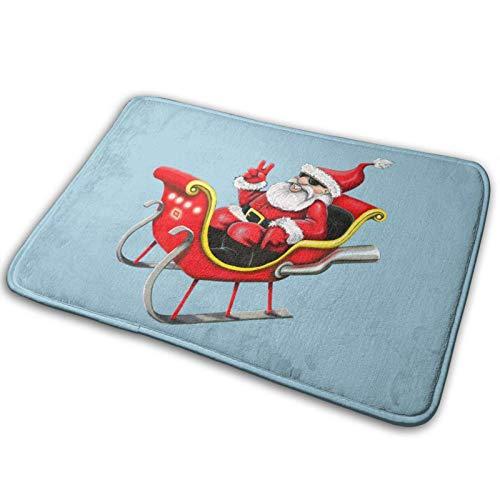 shenguang Felpudo Delantero Antideslizante, Alfombras de baño absorbentes, Alfombra de Entrada de Feliz Navidad Alfombra para Mascotas Alfombra Suave para Sala de Estar