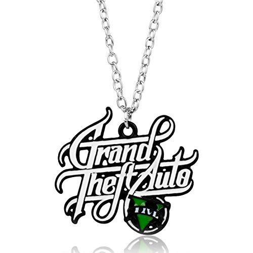 YUNMENG Ps4 Xbox Pc Rockstar Spiel GTA V Grand Theft Auto 5 Halskette Kette Anhänger Halsketten Collier Colar Halskette
