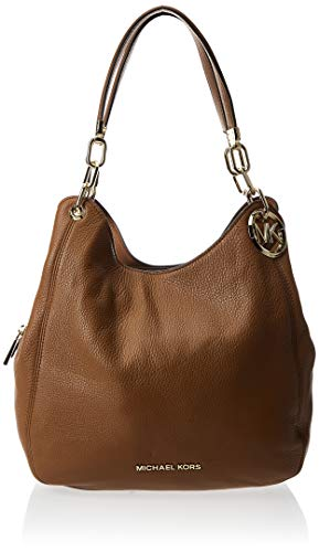 Michael Kors Womens LG CHAIN SHLDR TOTE, LUGGAGE, Large