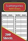 Scattergories Refill Sheets 200 Sheets