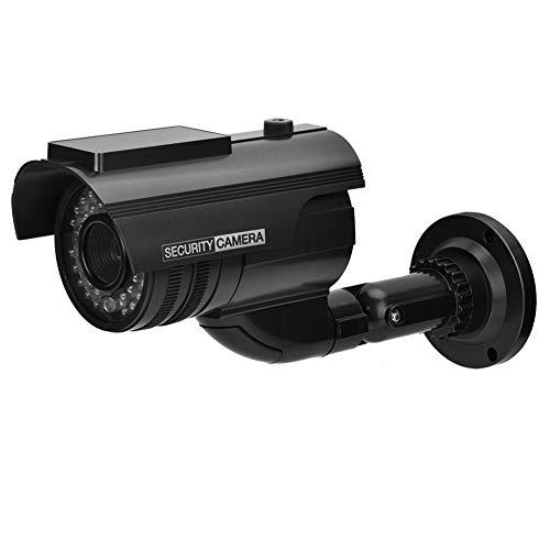 Exliy Cámara simulada CCTV Cámara de Video de Seguridad para el hogar Impermeable, Buena Mano de Obra Cámara de Seguridad Falsa con luz LED Intermitente Realista