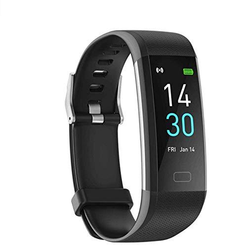 GAO-bo Reloj inteligente con monitor de frecuencia cardíaca, rastreadores de actividad física con pantalla táctil de 0,96 pulgadas, podómetro impermeable IP68, contador de pasos para mujeres y