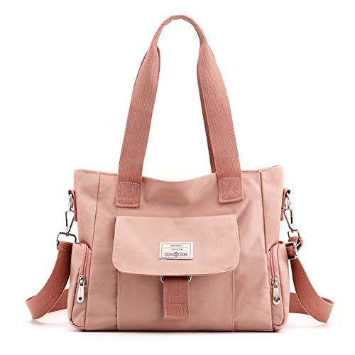 Zokrintz Women Nylon Laptop Shoulder Bag Large Capacity Organizer Travel Purse Work Tote Handbag