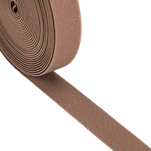 iCraft 1-Inch by 5-Yard Khaki Colored Double-Side Twill Non-Roll Wowen Elastic 93030