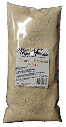 Farina di Mandorle pelate realizzata da mandorle Italiane 100% Mandorle Macinate 500 GR