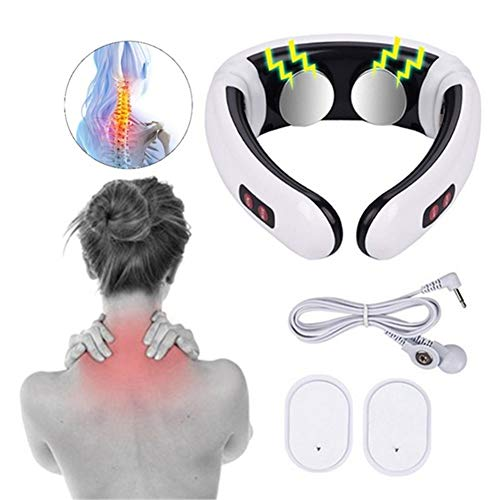 BKMWL Nacken Massagegerät Elektro Impuls Infrarot Heizung Schmerzlinderung Gesundheit Smart Rückenmassagegerät