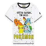 Pokemon Camiseta Niño, Camisetas Niño Manga Corta De Algodón, Regalo Cumpleaños Niños, Tallas De 5-14 Años (Blanco, 11-12 años)