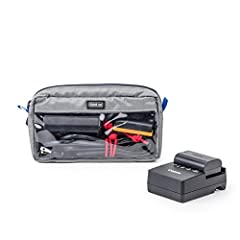 """Fits AC adapters, cables, flash drives Clear panels to easily identify contents Business card slot allows for identification or listing the contents Contains three Red Whips, adjustable cable ties Exterior Dimensions: 7.3"""" W x 4"""" H x 1.8"""" D (18.5 x 1..."""