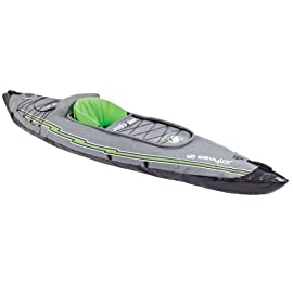 Sevylor Quikpak K5 1-Person Kayak 2 5-minute setup lets you spend more time on the water Easy-to-carry backpack system turns into the seat 24-gauge PVC construction is rugged for lake use