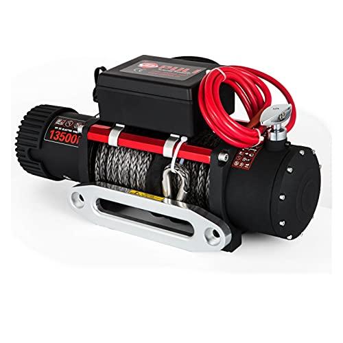 YXZQ Maquina de soldar electrica Cuerda sintética con Control Remoto con Control Remoto para ATV UTV TOTCH 6120 KG 13500 LBS con Control Remoto para ATV UTV Herramientas de Soldadura