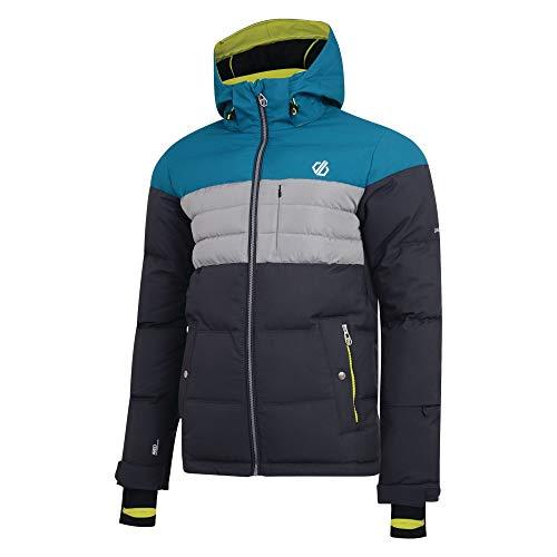 Dare 2b Herren Connate Waterproof & Breathable Quilted Silhouette High Loft Insulated Ski & Snowboard Hooded Jacket wasserdichte, isolierte Jacken, Ebony Grey/Ocean Depths, m