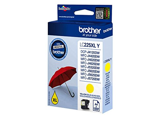 Brother original - Brother MFC-J 4625 DW (LC-225 XL Y) - Tintenpatrone gelb - 1.200 Seiten - 11,8ml