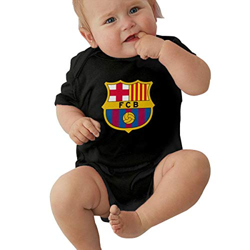 Jimdodo Boys Girls Baby Barcelona Logo Infant Onesies 100% Cotton Black