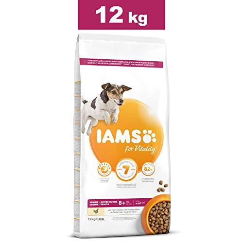 IAMS for Vitality Nourriture sèche Chien Senior Petite et Moyenne Race - Au poulet frais - 12kg