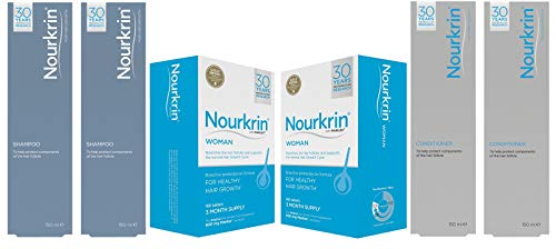 Nourkrin 6 Month Bundle with Shampoo and Conditioner for Women