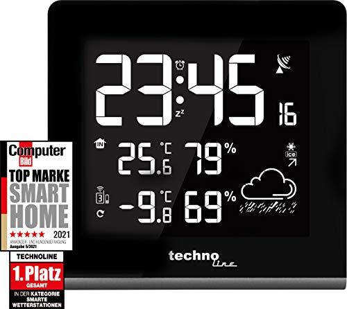 Technoline WS 9065 Moderne Wetterstation mit Displaydarstellung in 256 verschiedenen Farben mit Netzteil