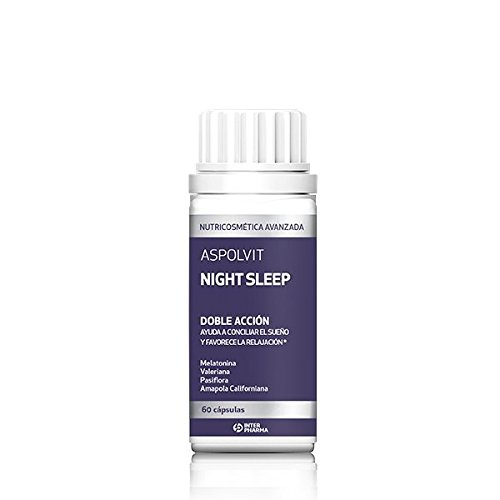 ASPOLVIT – Night Sleep Suplemento natural con melatonina que ayuda a dormir mejor y elimina...