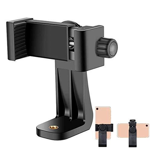 TXG Adaptador de Trípode Universal Vertical Rotativo,Soporte para Camara y Teléfono para iPhone, Samsung, Camara y Otro Smartphones