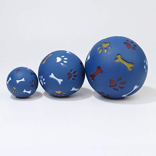 Bevat 3 Pet Clean Toys Denti, stick A vorm van de kauwbal voor het roeren van Chewers Ball, natuurlijk rubber, geen giftige tandenborstel, tandverzorging voor honden, medium en groot. Blauw