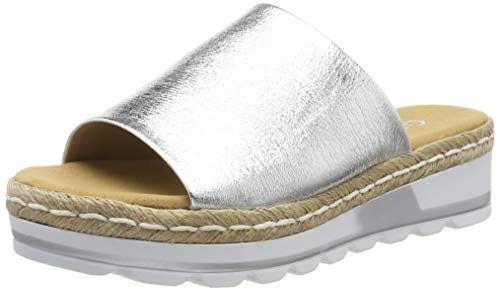Gabor Shoes Damen Comfort Sport Riemchensandalen, Mehrfarbig (Silber (Jute) 10), 40 EU
