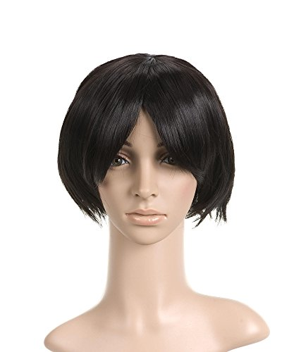 Jet Black Extra Short Length Anime Cosplay Costume Wig