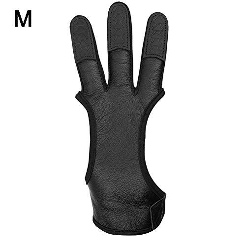 1 STÜCK Bogenschießen 3 Finger / 2 Fingerschutz Schießen Handschuhe Pfeil Bogen Jagd Schießen Recurve Bogen