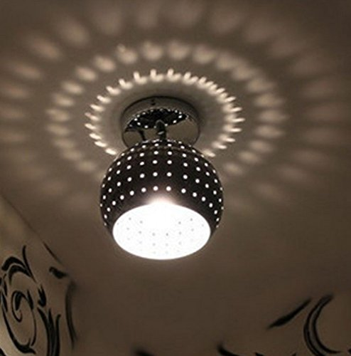 Lampe de plafond créative en fer forgé perforée Hall d'entrée Hall d'entrée Balcon Lampe de plafond, sans ampoule