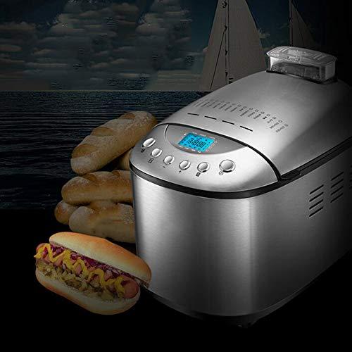 Panificadora programable con 15 programas Digitales, Máquina para Hacer Pan Completamente Automática, Capacidad de 1250g, para Pan sin Gluten, Mermelada y Yogur