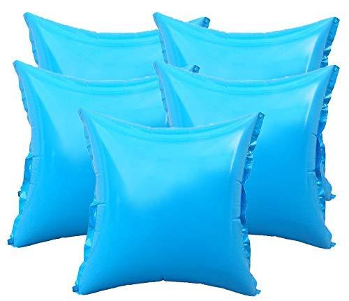 well2wellness® 5 x Pool Luftkissen, Poolkissen und Winterkissen für Abdeckplanen mit neuem Ventil und 4 Ösen