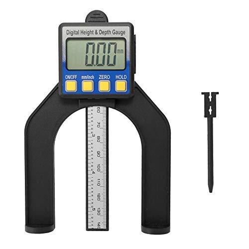 Roeam Tiefenmesser, Digitaler Profiltiefenmesser,Digitale Messschieber,Hochpräzise LCD Digitalanzeige Schieblehre Messschieber Höhen und Tiefenmesser mit Messbereich von 0-85mm Boden mit Magneten