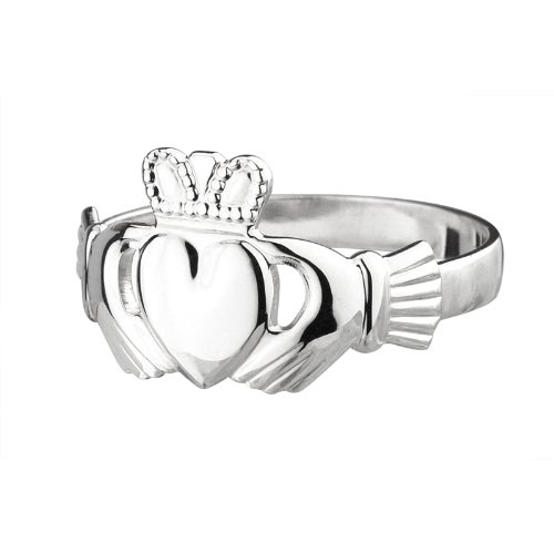 Failte Womens Claddagh Ring Sterling Silver Made in Ireland Size 9