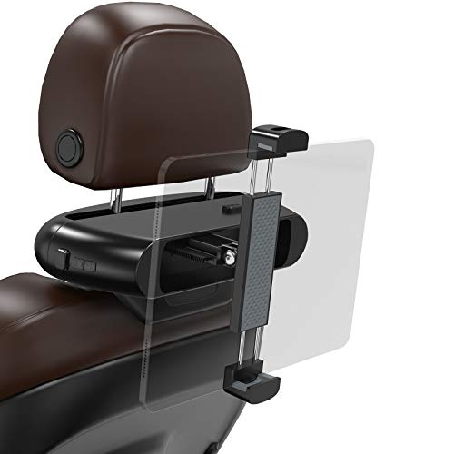 Soporte Tablet Coche, Nulaxy Soporte reposacabezas automóvil, Soporte para iPad Coche de diseño Robusto y Estable niños, Compatible universalmente con iPad, tabletas, Switch, de 4'a 12,9' de Ancho