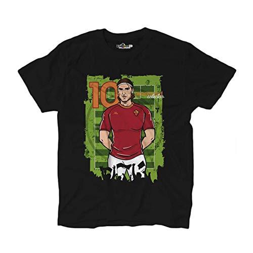 Générique Amarcord 10 Pupone t-Shirt Captain 1992/2017 Noir - XL, Noir