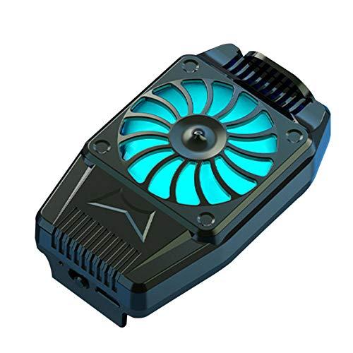 Ventilador del refrigerador del teléfono móvil, refrigeración física, juego de disparos refrigerado por aire, silenciador, radiador, pollo King Radiator adecuado para teléfono móvil de 4-6.7 pulgadas