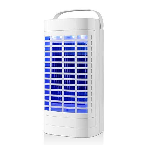 ZHTY Lámpara Antimosquitos Eléctrico Luz Ultravioleta de 360 ° Atraer Matanza eficiente de Mosquitos Silencioso y cómodo para Embarazadas y bebés,El diseño del asa es fácil de Transportar