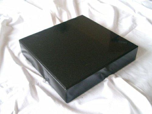Granitsockel 30cm x 30cm x 5cm Sockel Grabstein Urnenstein Sockel aus Granit Vasensockel Sockel Schwarz Trittplatte Trittstein
