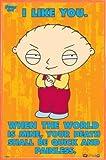 1art1 Padre De Familia Pster con Marco (Plstico) - Stewie - The World Is Mine (91 x 61cm)
