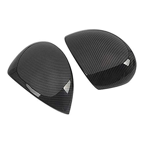 QPLKL Accesorios para automóviles 2015-2020 ABS Fibra de Carbono Puerta Lateral Espejo retrovisor Cubierta de Shell Ajuste de la decoración para Coche, Camiones. (Color : Carbon Fiber Pattern)