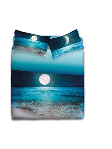 Gabel Moon Lenzuolo Copriletto Matrimoniale, Notte, 250 x 290 cm